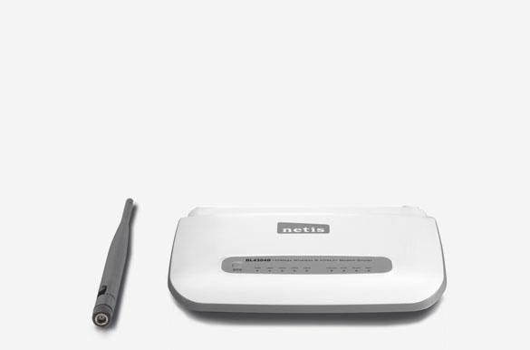 DL4304D – ۱۵۰Mbps Wireless N ADSL2+ Modem Router, Detachable Antenna