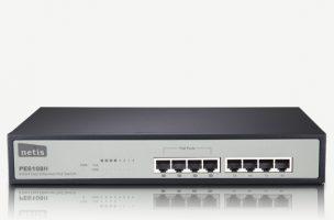 ۸ Port Fast Ethernet PoE Switch/4 Port PoE/802.3af PE6108H(PE-6201)